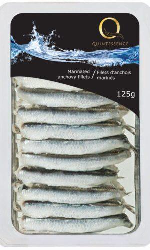 Q marinated anchovy fillets natural